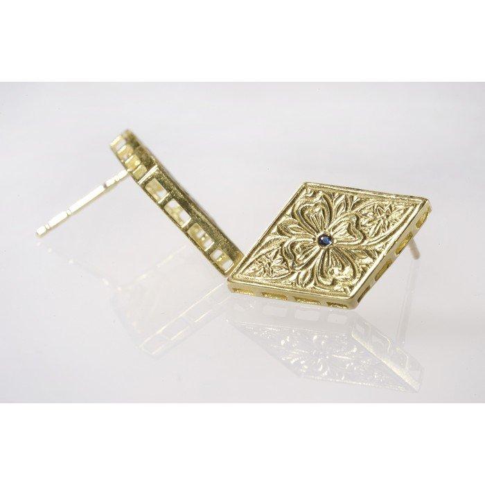 עגילי זהב וינטאג