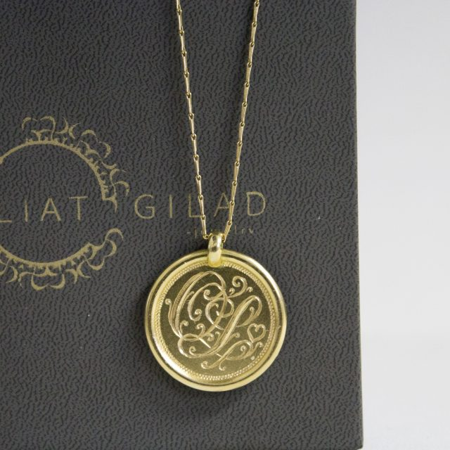 תליון מטבע זהב