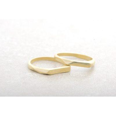 טבעת זהב לחריטה אישית