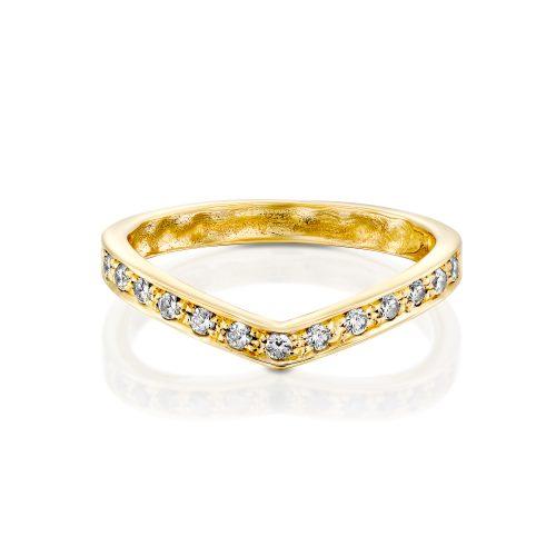 טבעת זהב שיבוץ יהלומים
