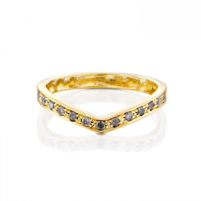 טבעת יהלומים משתלבת