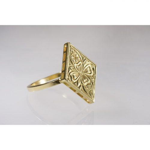 טבעת וינטאג'זהב
