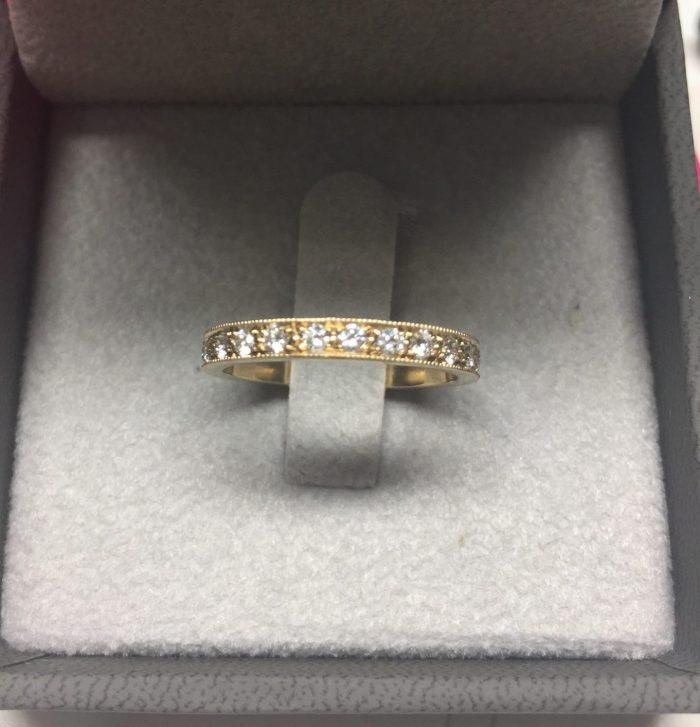 טבעת זהב ויהלומים וינטאג