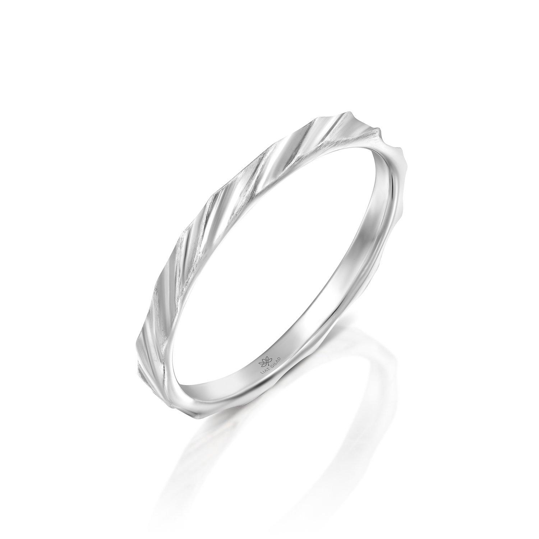 """טבעת לגבר זהב לבן 2 מ""""מ"""