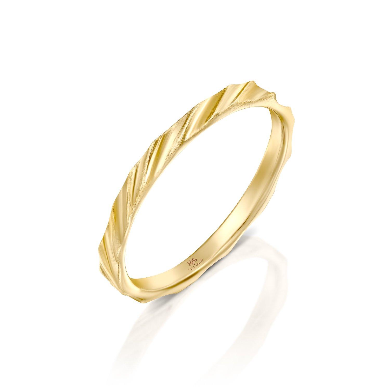 טבעת זהב דקה לאישה