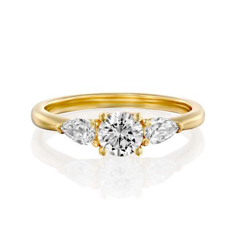טבעת 3 אבנים