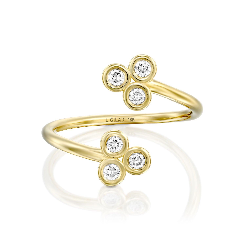 טבעת יהלומים פתוחה