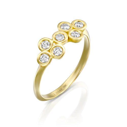 טבעת זהב ויהלומים