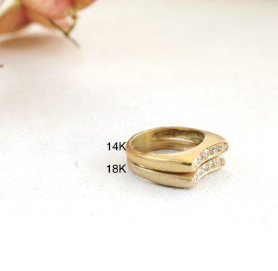 מה ההבדל בין זהב 14 קראט ל18 קראט