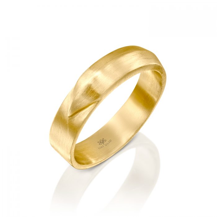 טבעת זהב לגבר