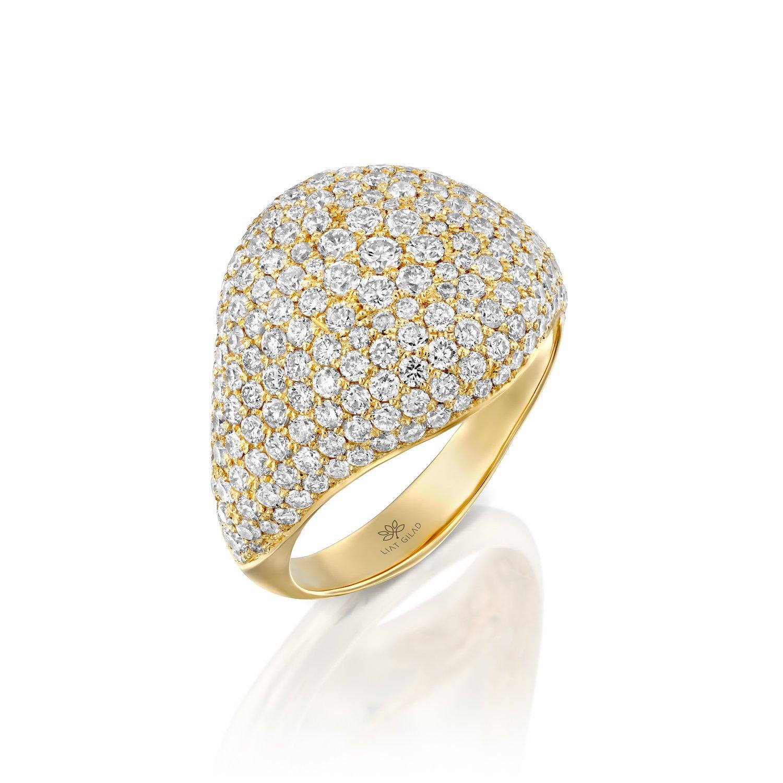 טבעת יהלומים לזרת