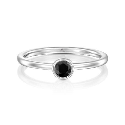 טבעת זהב עם יהלום שחור