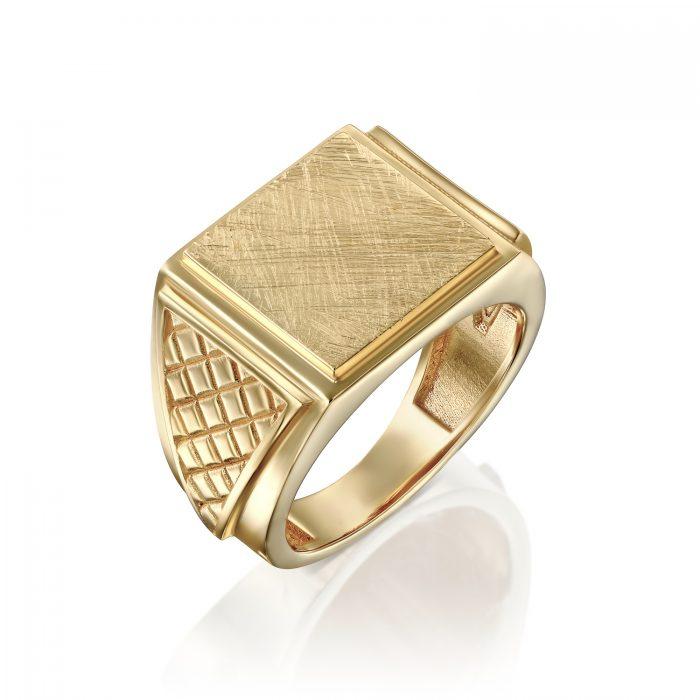 טבעת חותם לגבר מזהב