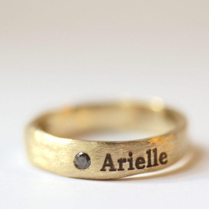 טבעת לגבר עם חריטה אישית