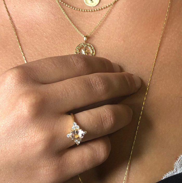 טבעת אירוסין מורגנייט