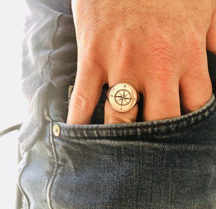טבעת חותם לגבר
