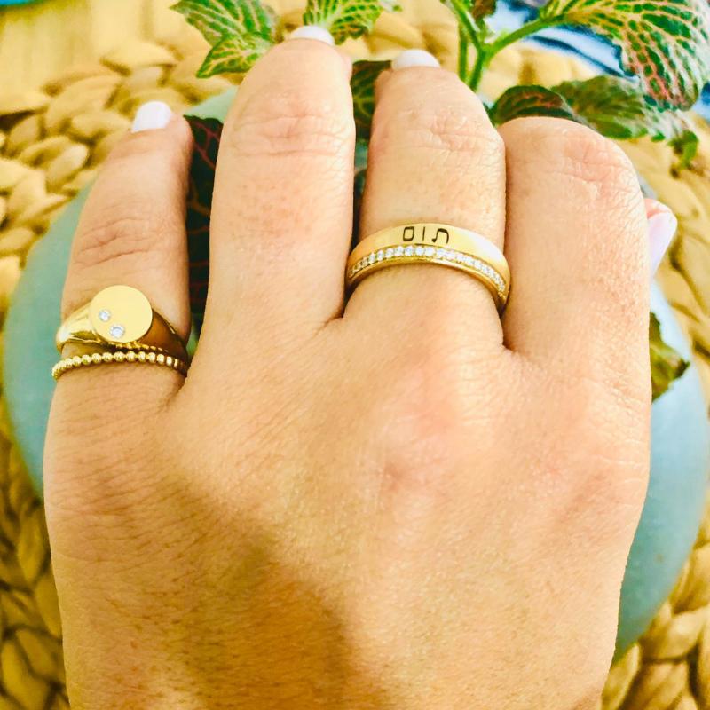טבעת זהב דקה לזרת