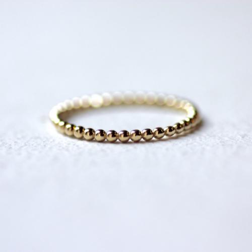 טבעת כדורים מזהב