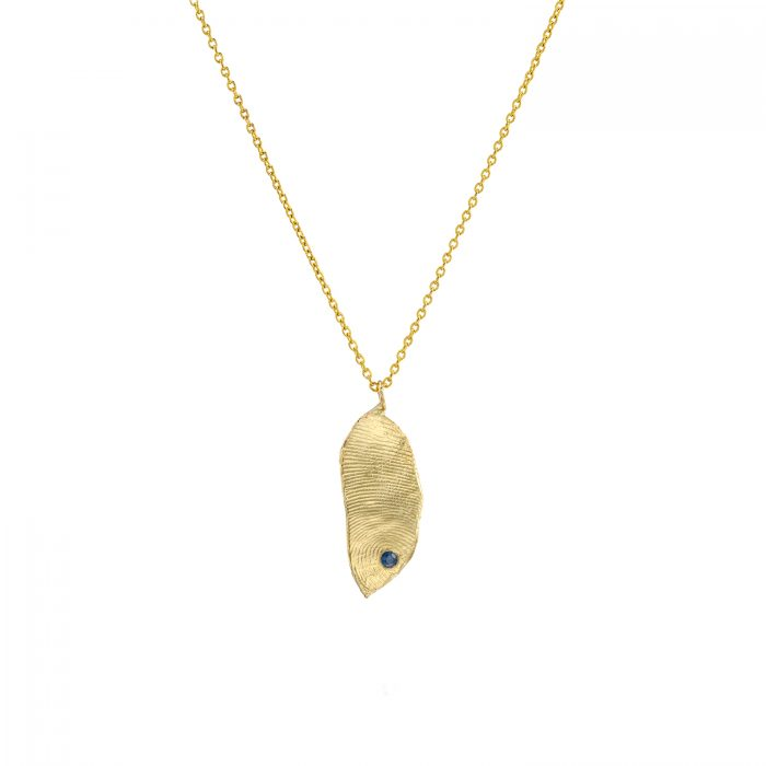 תליון זהב עם טביעת אצבע