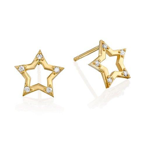 עגילי כוכב יהלומים