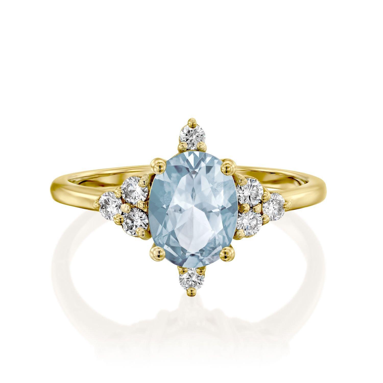 טבעת אקוומרין