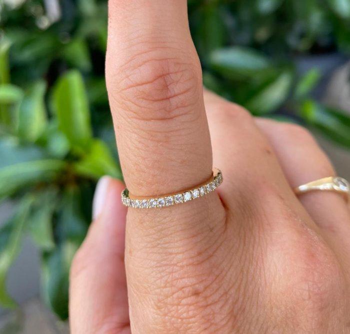 טבעת יהלומים קלאסית