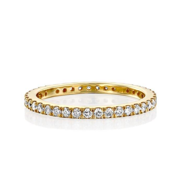 טבעת יהלומים לבנים